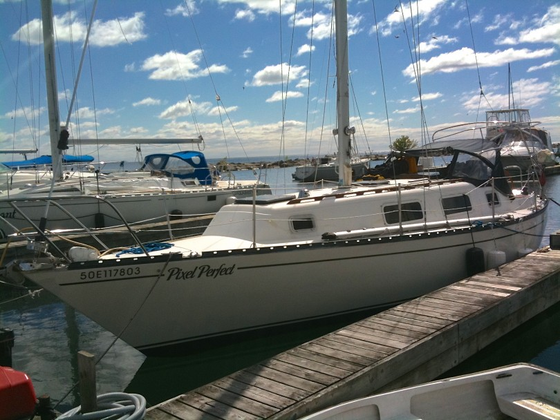 Pixel Perfect, docked at Port Credit Marina